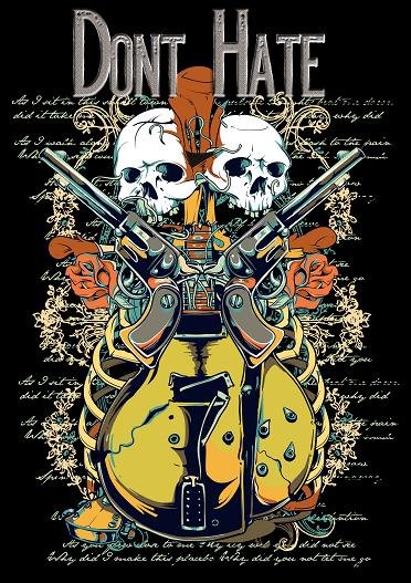 Dark Shirt Design Print and Iron on Yourself #444