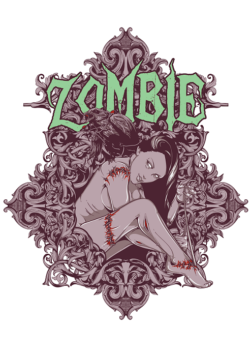 Purple Zombie Print and Iron On Yourself!