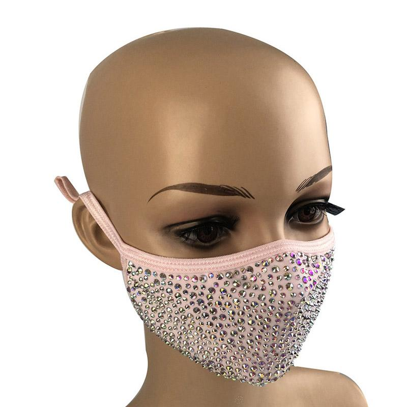 Pink Face Mask with Gems Brand New